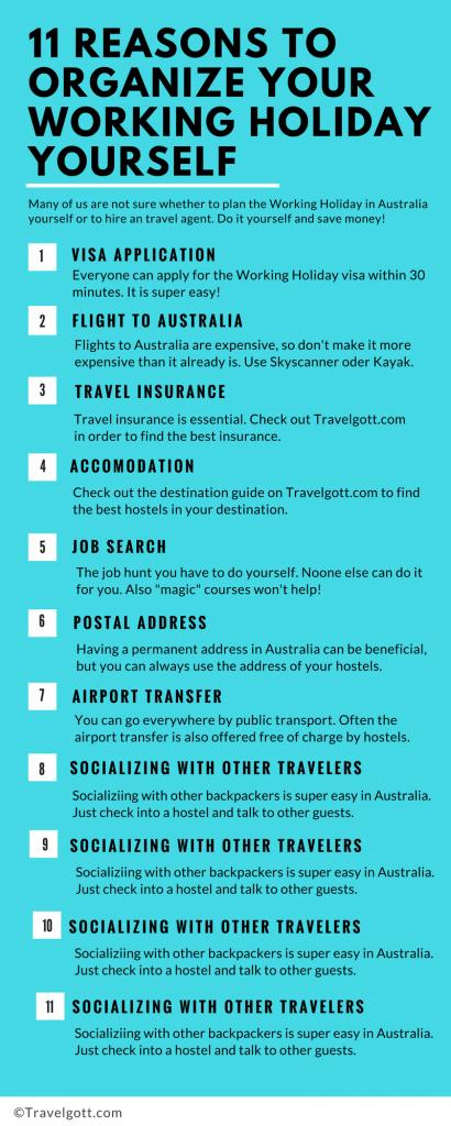 11 Gründe warum du dein Work and Travel in Australien selbst organisieren sollst