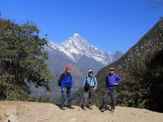 Trekking in the Himalayas in Nepal