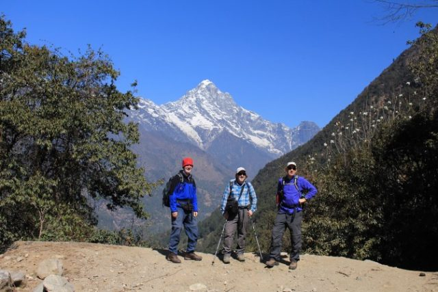 Trekking in the Himalayas in Nepal