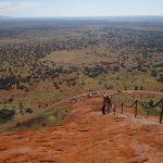 Climibing Uluru
