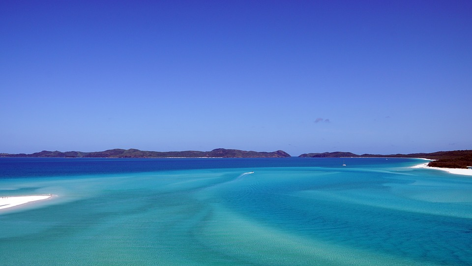 Whitsunday Islands - blaues Wasser